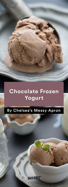 4. Chocolate Frozen Yogurt http://greatist.com/eat/frozen-yogurt-recipes-with-5-ingredients-or-less