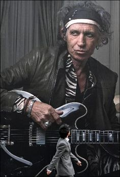 "Keith Richards Print / The Rolling Stones - ""Some journeys cannot be put into words""."