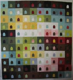 Houses House by cherry house quilts, via Flickr
