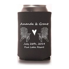 Personalized Adirondack Chairs Nautical Beach Wedding Koozies, Bridal Event…