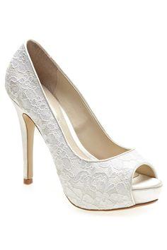 ivory lace heels | shop shoes pumps ivory lace peep toe court shoes shop similar items