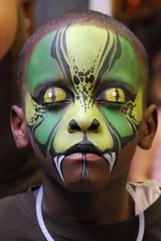 Face paint snake animal boys full face