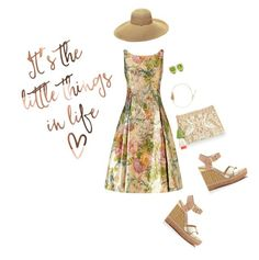 """Garden party"" by naomi-mann on Polyvore featuring Gottex, Adrianna Papell, Sam Edelman, Star Mela and Charles Krypell"