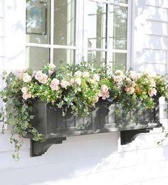 Lexington Window Box with Hanging Brackets, 4'L   Deck Planters