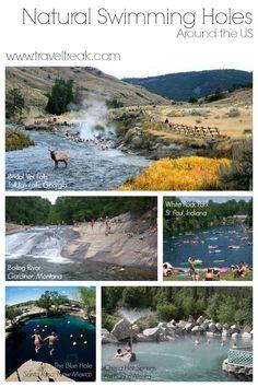 U.S. Natural Swimming Holes. Next on my Travel America bucket list