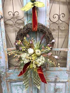 Thanksgiving Wreaths, Autumn Wreaths, Easter Wreaths, Christmas Wreaths, Wreath Fall, Tree Topper Bow, Tree Toppers, Vine Wreath, Halloween Door Decorations