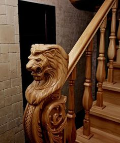 Reminds Me Of A Wood-Carved Step In A Shopping-Mall In Edinburgh