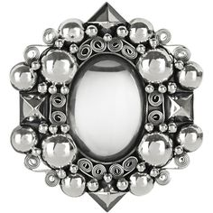 Bottega Veneta Antiqued sterling silver rock crystal brooch (¥228,585) ❤ liked on Polyvore featuring jewelry, brooches, brooch, bottega veneta, silver, pin brooch, bottega veneta jewelry, clear crystal jewelry and sterling silver jewellery