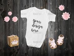 MOCK Up BABY ONESIES blank white png and jpeg Fashion Design