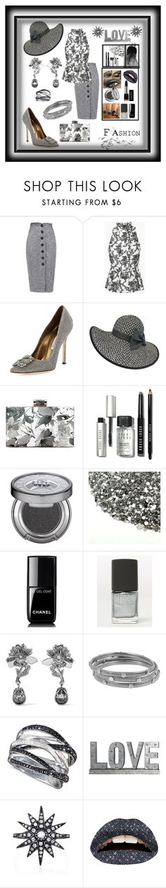 """""""A little Business Look  for the day Then it becomes the Look  for the night"""" by mcronald-denise ❤ liked on Polyvore featuring Manolo Blahnik, Bobbi Brown Cosmetics, Urban Decay, Chanel, SHADE Collection, Alexander McQueen, Diane Von Furstenberg, R.H. Macy's & Co., Privilege and Shay"""