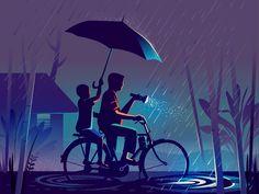 dribbble_wayfinding_home.png by ranganath krishnamani Indian Illustration, Illustration Story, Illustration Styles, Creative Illustration, Indian Art, Doa, Art Drawings, Digital Art, Old Things