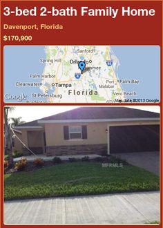 3-bed 2-bath Family Home in Davenport, Florida ►$170,900 #PropertyForSale #RealEstate #Florida http://florida-magic.com/properties/77459-family-home-for-sale-in-davenport-florida-with-3-bedroom-2-bathroom