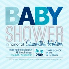 Mixbook Bold Type Boys Baby Shower Invitations