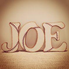 Baseball Nursery Wall Letters-Baseball Letters-Vintage Baseball-Nursery Letters-Baseball Room-Wood Letters-Wall Letters-Baseball Nursery by AJsPrivyCreations on Etsy https://www.etsy.com/listing/161724452/baseball-nursery-wall-letters-baseball