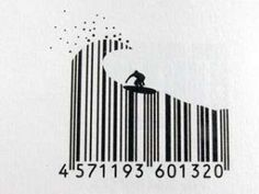 barcode art surf ... cool