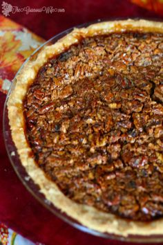 Southern Brown Sugar Pecan Pie- A super simple but absolutely delicious pecan pie recipe. I make these for the holidays every year, and it is amazing! From TheGraciousWife.com #recipe #dessert #pecanpie