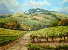 Original Tuscany oil painting
