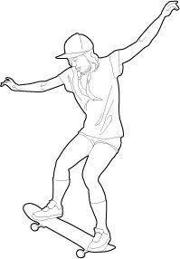 [30] Woman Skateboarding