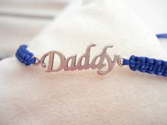 Silver Daddy bracelet Personalized script Father's day gift best dad friendship bracelet For him unique birthday present godfather Easter Goddaughter Gifts, Daddy Gifts, Fathers Day Gifts, Evil Eye Bracelet, Bracelet Set, Gifts For Friends, Gifts For Mom, Birthday Presents For Him, Greek Gifts