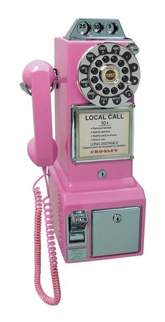 1950s Classic Pay Phone in Pink