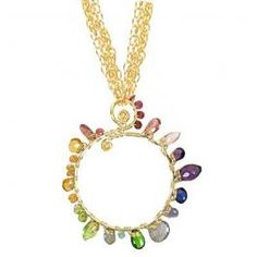 Calico Juno Designs Circle Spiral Necklace