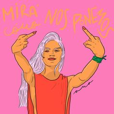Lo vamos a hacer mierda ✊💚 #miracomonosponemos . . . . . . . . . . . . . . . . #illustration #ilustracion #dibujos #dibujo #digitalart… Positive Memes, Power Girl, Girl Gang, Powerful Women, Ladies Day, Word Art, Wallpaper Quotes, Poster, Illustration Art