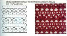 PATRONES - CROCHET - GANCHILLO - GRAFICOS: MAS PUNTOS TEJIDOS A GANCHILLO PARA SU COLECCION