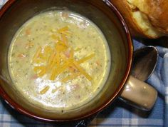 Broccoli Potato Cheese Soup (Weight Watchers)