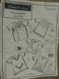 Patrones para calado y bordado de cotas para bebé  www.latinfit.com