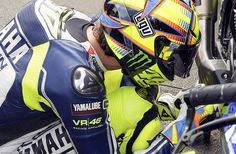 Valentino Rossi, just before the start @ Assen MotoGP Grand Prix 2013