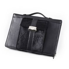 iPad & MacBook Air Horsehair Leather Portfolio | iCarryalls Leather Fashion  www.icarryalls.com