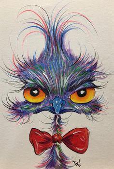 Acrylic Painting Animals, Simple Acrylic Paintings, Cartoon Drawings, Cartoon Art, Bird Template, Bug Art, Happy Paintings, Waterworks, Cute Birds