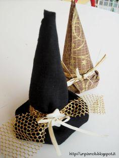 Segnaposto per Halloween  un cappello da strega Pianoforte 00dc38661eb8