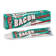 Not to be outdone by the bacon flavored toothpaste, but here is a bacon inspired and flavored dental floss. Description from mypigmeup.com. I searched for this on bing.com/images