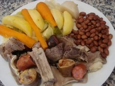 """Cozido """"Meat Stew"""" - Easy Portuguese Recipes,I like all the ingredients except the blood sausage"""