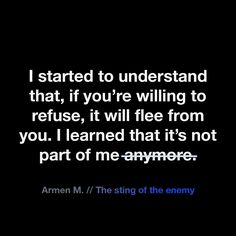 Armen M. // The sting of the enemy
