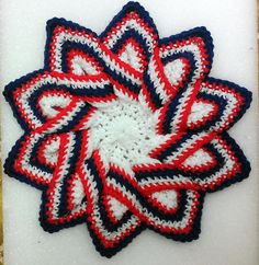 Red, White, Blue Trivet Hot Pad