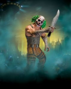 #transformer ko batman arkham city series 3: clown thug w knife [action figure] by dc direct
