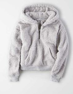 American Eagle Outfitters Men's & Women's Clothing, Shoes & Accessories AE Fuzzy Teddy Zip Hoodie, Gray Teen Fashion Outfits, Mode Outfits, Outfits For Teens, Girl Outfits, Womens Fashion, Stylish Hoodies, Comfy Hoodies, Cute Lazy Outfits, Trendy Outfits