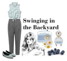 """""""SWINGING IN THE BACKYARD"""" by dandelionapril ❤ liked on Polyvore featuring Topshop, Abercrombie & Fitch and Marc Jacobs"""