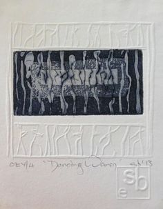 "embossing with printed image. Susan Bowers Intaglio with embossing ""Dancing Women"" Collages, Collage Art, Intaglio Printmaking, Art Abstrait, Art Graphique, Art Plastique, African Art, Letterpress, Paper Art"