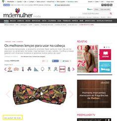 Cinco lenços para a cabeça da Elo7 foram publicados no Portal M de Mulher.