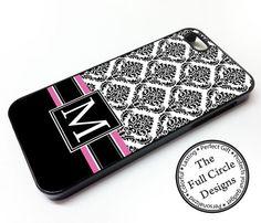 Damask Monogrammed iPhone 5s case by TheFullCircleDesigns on Etsy, $14.99