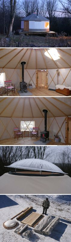 A 133 sq ft yurt you can make yourself in about three hours.                                                                                                                                                                                 More