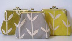 Handmade purses made in my Orla print by Louise Brainwood.