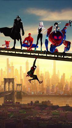 wonderful wallpaper Movie artwork Spider-Man: Into the Spider-Verse fan art 9501534 wallpaper Amazing Spiderman, Spiderman Spider, Marvel Art, Marvel Heroes, Marvel Avengers, Marvel Funny, Marvel Wallpaper, Iphone Wallpaper, Iphone Backgrounds