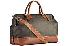 Kaufmann Mercantile Handmade Canvas & Leather Weekend Bag ($185)