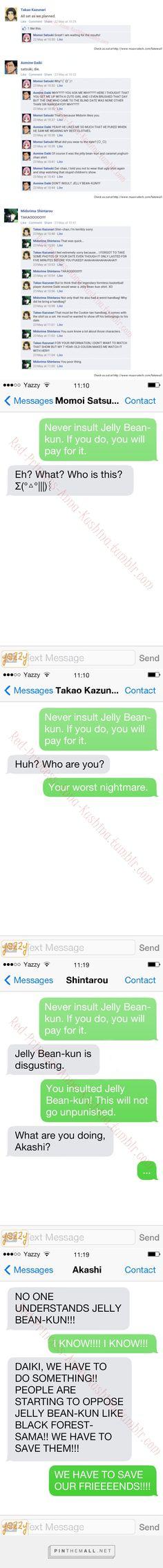 High School Boys and Jelly Bean-kun.