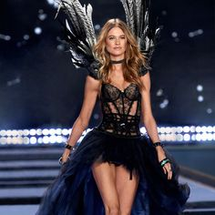 Behati Prinsloo is all about that drama. | Designer Collection Bustier & Matching Panty with Swarovski crystals