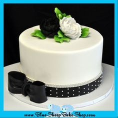 Black and White Anniversary Cake